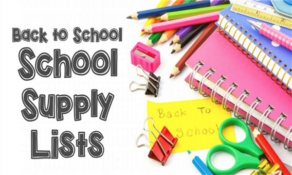 Supply lists for students