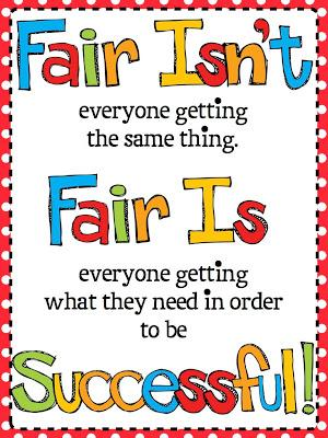 Fair is being able to be successful